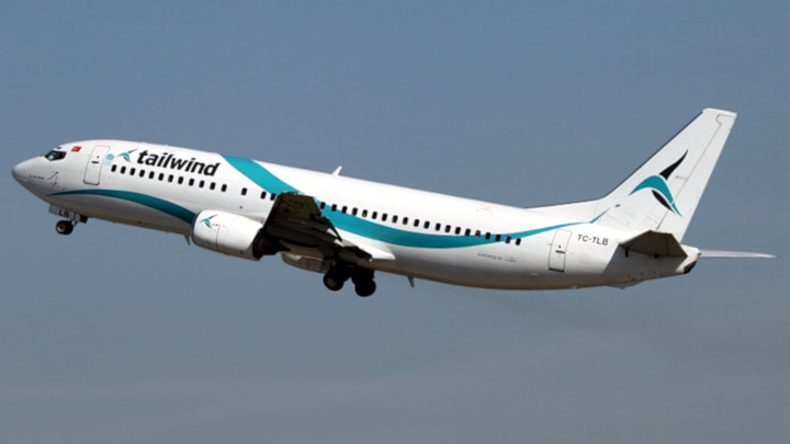 Information |Description=Tailwind Airlines Boeing 737-400 TC-TLB |Source=own work |Author=JuergenL |Date=2010-04-29 https://commons.wikimedia.org/